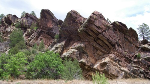 Close up of northern NM rocks