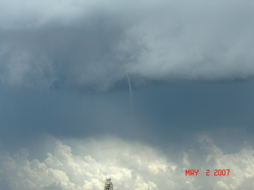 Funnel cloud at White Sands