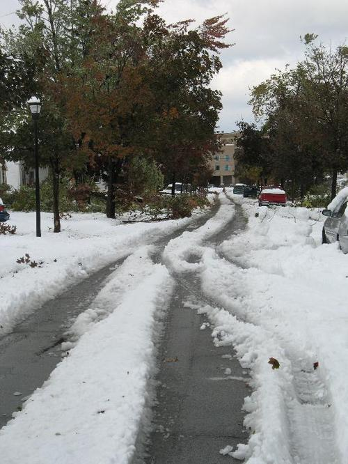 Snow in New York, Oct. 12, 2006