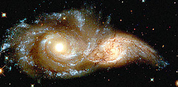 Two merging galaxies