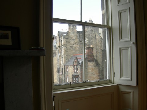 View from Robin's window in Scotland