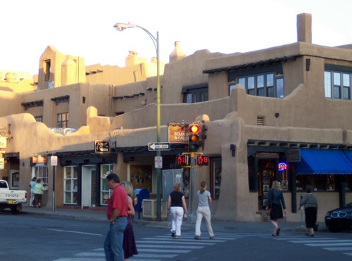 Santa Fe sunlight on the plaza