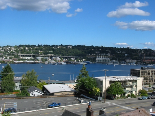 Lake Union under the clouds