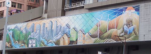 Seattle mermaid mural
