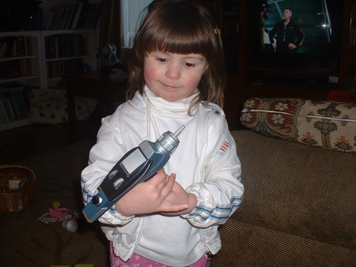 Ava and her new phaser