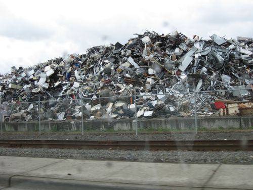 Scrap metal by the Tacoma Port